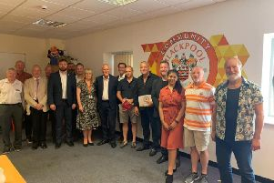 The event was hosted at Blackpool FC Community Trust's offices at Bloomfield Road