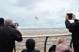 Cameras at the ready on Blackpool Promenade for the air show.