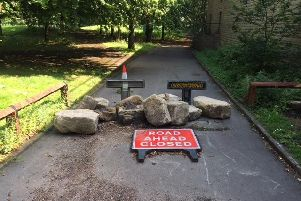 Elland resident Sandra Lupson's pictures of the boulders