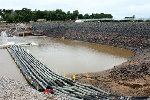 The latest picture of Toddbrook Reservoir from the Canal and River Trust.