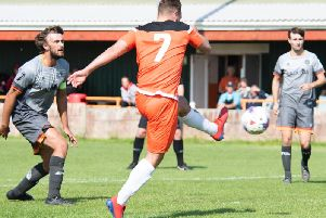 Billy McKenna seals victory with AFC Blackpool's second goal against AFC Liverpool  Picture: NIKKI WILCOCK