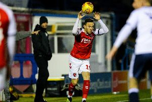 Gethin Jones in action for Town