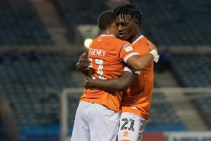 Armand Gnanduillet was on the scoresheet yet again as Blackpool drew 2-2 with Gillingham