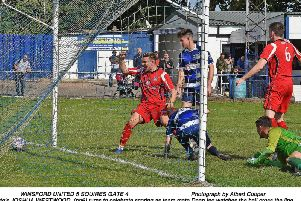 Dean Ing was on target for Squires Gate   Picture: ALBERT COOPER