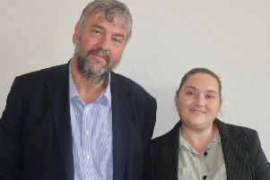North West Brexit Party MEP Henrik Overgaard-Nielsen, with new party member, Coun Rachel George