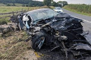 The aftermath of the accident in the North York Moors. Picture: YAA.