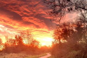 A sunset at beauty spot Nidd Gorge in Harrogate. (Image provided courtesy of Mike Joslin - life long supporter of Nidd Gorge)