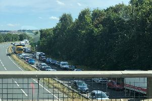 The current situation on the A64. Picture by Jim Calvert.
