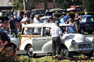 Classic car show at Stanley Park, Blackpool