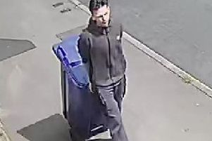 A still from CCTV which police say shows a suspect in their investigation.