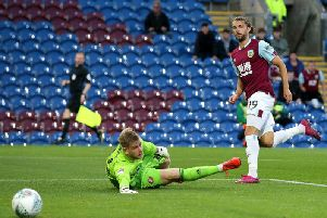 Burnley striker Jay Rodriguez opens the scoring against Sunderland in the Carabao Cup