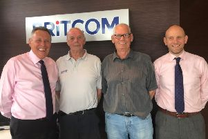 Britcom's Paul Mercer (Joint MD) with Dave Wilson, Terry Jewell and Chris Urwin (Joint MD).