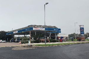 The Tesco petrol station which is now closed
