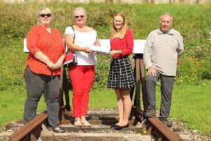 Coun Cheryl Raylor, Coun Mary Stirzaker, Cat Smith MP and Peter Williams, Back on Track, with a petition calling for a new rail link for Fleetwood