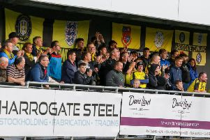 A crowd of 792 took in Harrogate Towns National League clash with Chorley on Tuesday evening. Picture: Matt Kirkham