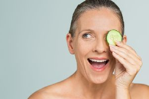 Use natural remedies like cucumber