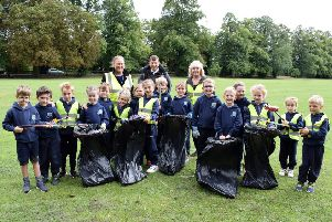 Pocklington Prep School children are working with town clerk Gordon Scaife to keep their community clean.