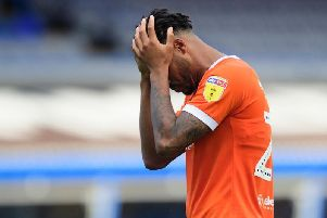 Blackpool's players were left crestfallen at the final whistle