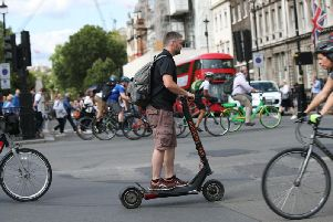 Electric scooters are banned from UK roads and pavements