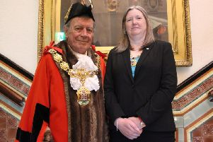 Pendle Mayor Coun. Ken Hartley and Mayoress Coun. Jayne Mills
