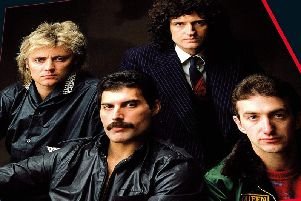 Harrogate event - Part of the front cover of the original Queens Greatest Hits album.