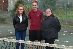 Providing Tennis for Free in Blackpool are (from left) Danielle Whitehouse (lead coach), Martin Hibberd (Blackpool Council) and Leah Wilkinson (coach)