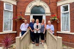 Brid Works advisers Arfon Williams and Carl Southoat, with new Holly Lodge employee Jackie Purcell, Managing Director Kim Cullumbine and owner Shelly Lee.