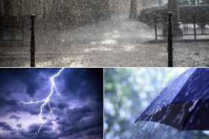 Spray and flash flooding on roads could make journey times longer and disrupt bus and train services.