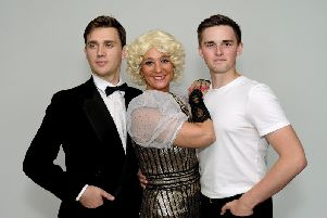Tom Astbury, Rebekah Kelly and Nathan Mundey in the Rodgers and Hart show
