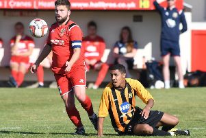 Skipper Andy Norfolk in action for the Seasiders earlier this season