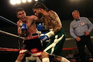 Tommy Ward in action at the Rainton Meadows Arena in July.