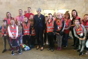 New Pasture Lane School pupils with the Prime Minister