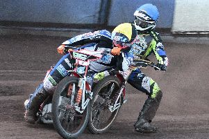 Sheffield Tigers speedway action: picture courtesy of Andy Garner.
