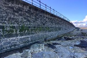 Work on the sea wall on the Headland will not continue as originally planned.