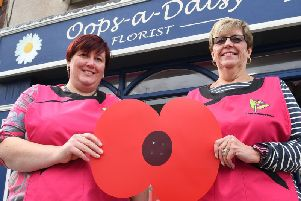Sara Suggitt and Linda Casey at Oops-a-Daisy Florist in Quay Road, which has been included in the Good Florist Guide.