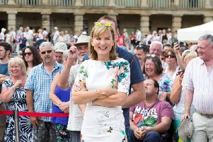 Film crews visited the Piece Hall back in July