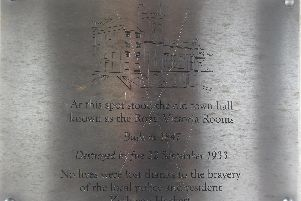 The damage to the plaque
