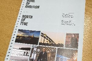 Some of the publicity material for the North of Tyne Combined Authority, which was designed by a Manchester firm.