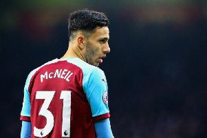Dwight McNeil scored his second goal of the season to give the Clarets hope