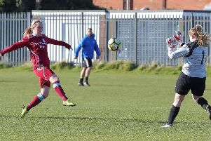 Josie Groves scores the winner for Brid Rovers Ladies
