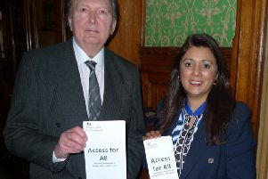 Sir Greg Knight with transport minister Nusrat Ghani.