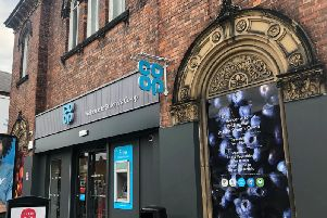The front of the Co-op store following building work completion