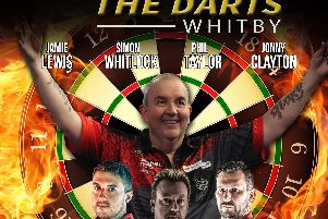 Phil 'the power' Taylor is on his way to Whitby Pavilion