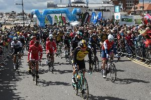 The Tour de Yorkshire in Bridlington in 2017.