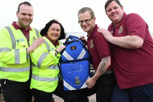 Bridlington community first responders Matthew Cheetham, Michaela Montgomery, Chris Swaine and Darren Cheek
