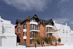 An artist's impression of how the new apartments could look at the Seacourt Hotel site.