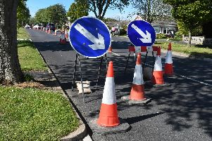 Roadworks on Bempton Lane