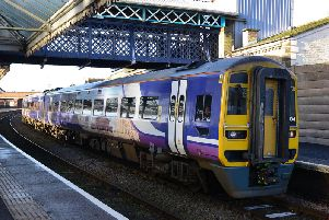 Train at Bridlington station
