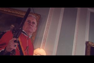 One of the scenes from Redcoats - shot in Lytham Hall