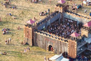 The Fortress is made with rescued and re-cycled scrap metal.